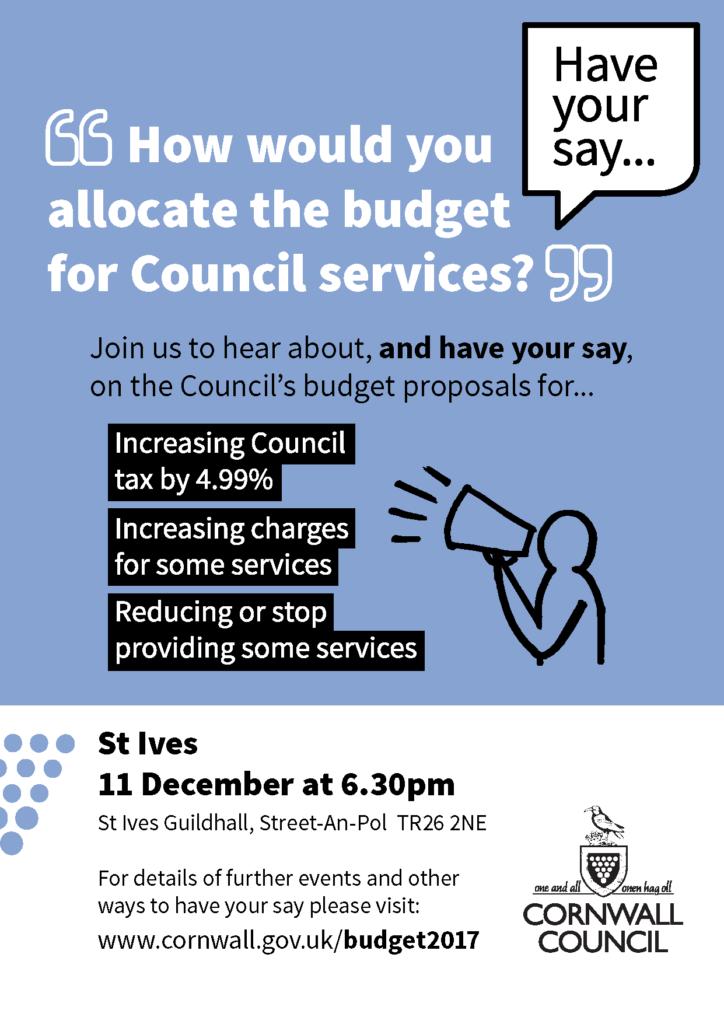 Budget Consultation Poster